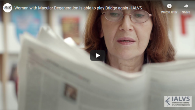 Screenshot 2019 03 29 Woman with Macular Degeneration is able to play Bridge again   IALVS   YouTube